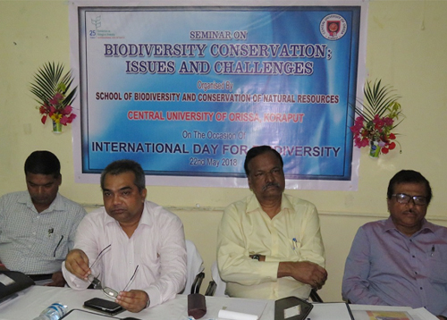 Conservation of Biodiversity requires peoples' participation and multidisciplinary approach: Prof. S. Mohanty, Vice-Chancellor, CUO