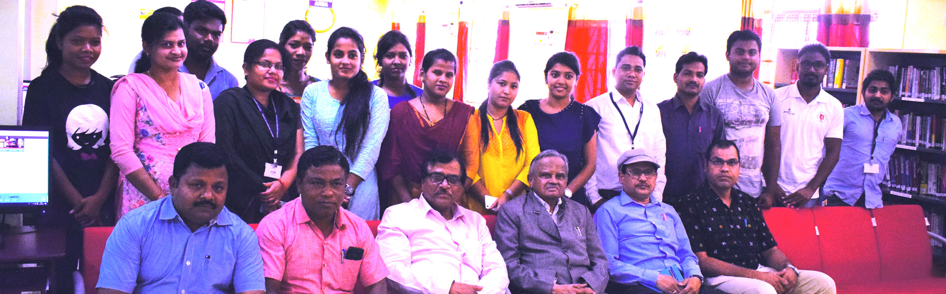 HON'BLE CHANCELLOR, PROF. P. V. KRISHNA BHATTA WITH THE STAFF AND STUDENTS OF THE UNIVERSITY