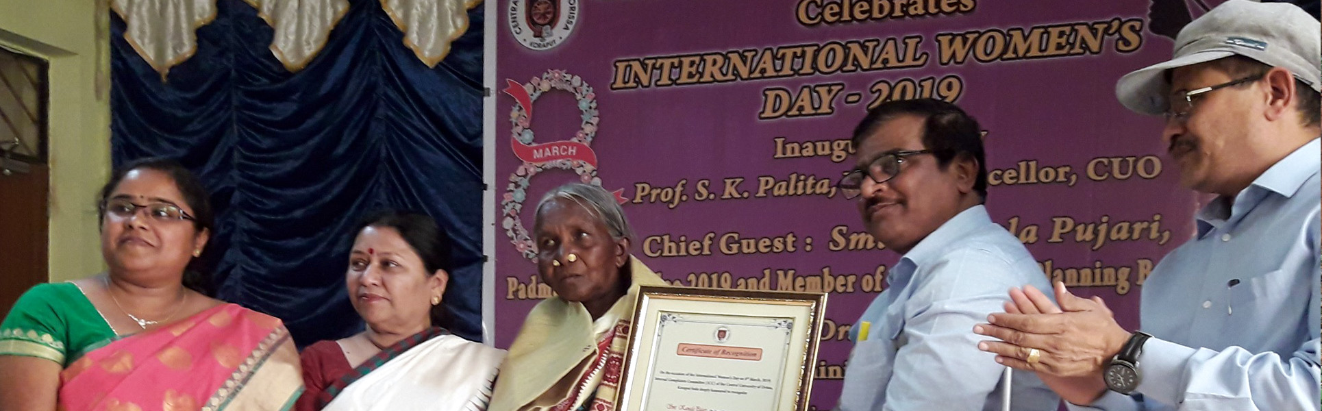 CUO FELICITATED PADMASHREE KAMALA PUJARI, THE GRATE TRIBAL SOCIAL WORKER AND  DR. APARNA MOHANTY, EMINENT FEMINIST ODIA ON THE OCCASION OF INTERNATIONAL WOMEN'S DAY – 2019