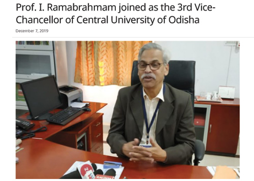 Prof. I. Ramabrahmam assumes charge as new Vice-Chancellor of CUO